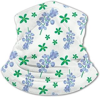 Pañuelo para la Cara de los niños Patrón de Estilo Floral idílico 5 Variedad para niños Balaclava Mascarilla Negro