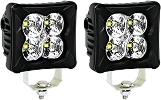 4WDKING LED Pods Flood Light Bar - 2PCS 40W CREE LED Off Road Work Light Truck Fog Lamp Tail Light IP69K Waterproof ATV Cube Lights