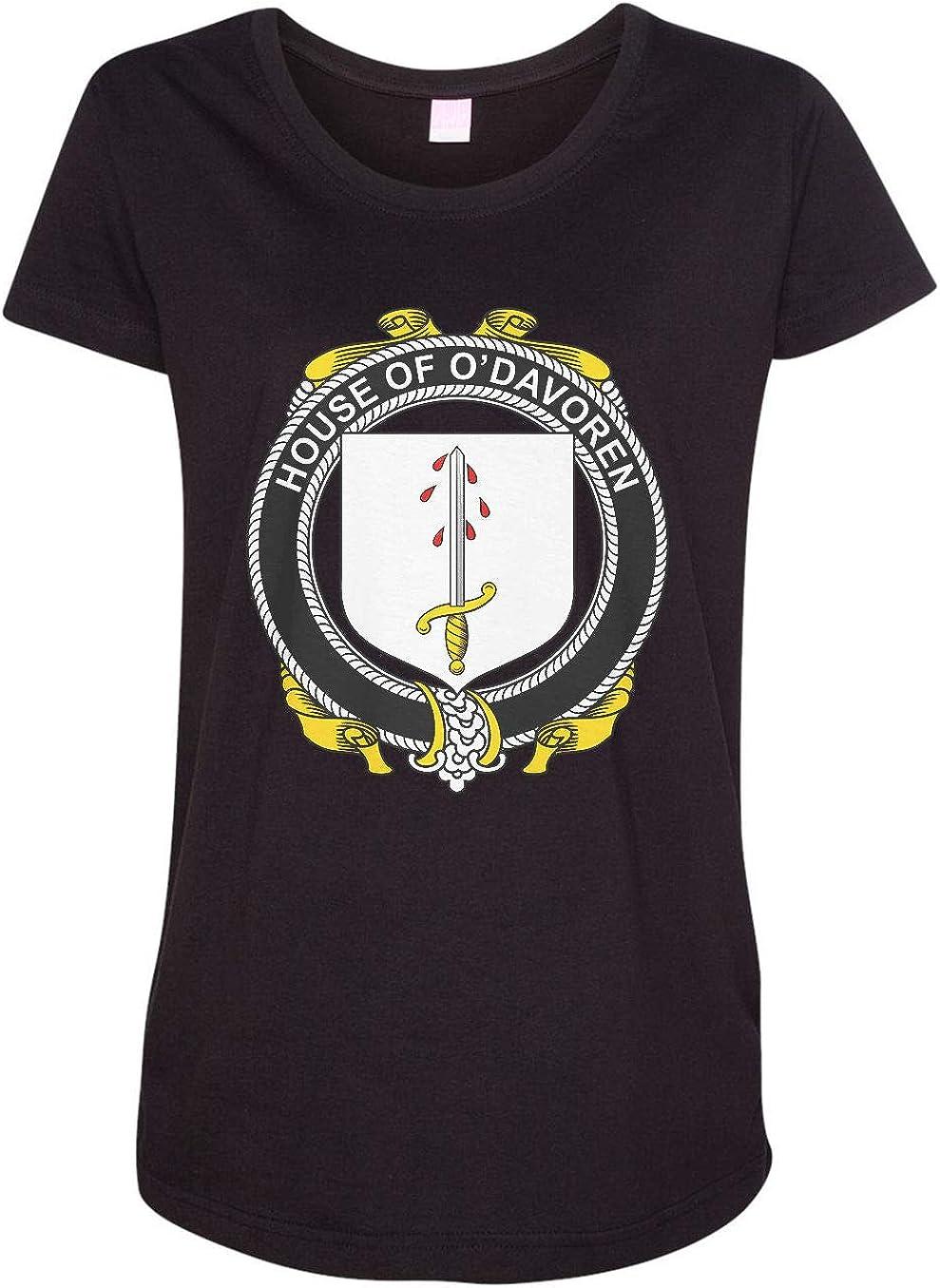 HARD EDGE DESIGN Women's Irish House Heraldry O'Davoren T-Shirt