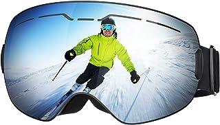 d36fc4d5fa Mpow Gafas de Esquí Magnéticas, UV400 OTG Lentes Intercambiables Esféricas  de Doble Capa Espuma Desmontable