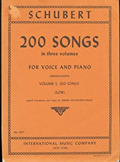 200 Songs for Voice and Piano: Vol. 1: 100 Songs, Low
