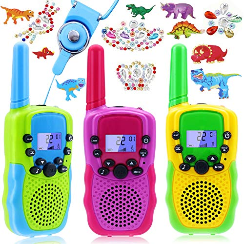 Kids' Walkie Talkies, Outdoor Adventure Game Toys 3 Kms Long Long Range22 Channels 2 Way Radio, Handheld Two Way Radio for Hiking Camping, Gift Toys for 4-12 Year Old Boys