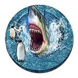 Ronda 3D Tiburón Franela Sala De Estar Cesta Colgante Alfombra Computadora Silla Piso Cojín Otomano 55cm 55cm E