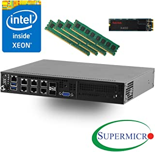 Supermicro SYS-E300-8D Intel Xeon D-1518, Dual 10GB LAN Server w/ 32GB UDIMM, 128GB M.2 SSD - Configured and Assembled by MITXPC