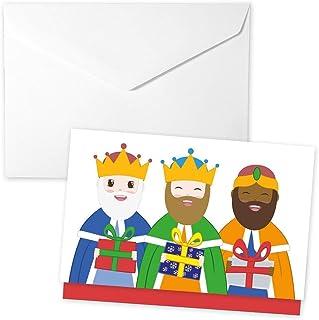 Sobre para regalar dinero con los tres Reyes Magos. Postal de Navidad.