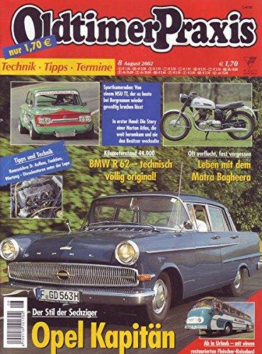 Oldtimer Praxis Nr. 08/2002 Der Stil der Sechziger Opel Kapitän