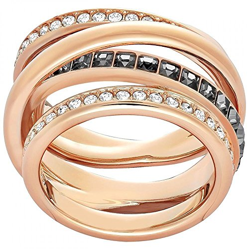 Swarovski Damen Cry Mix Ring, Mehrfarbig (grau, rosé Vergoldung), Gr. 54 (17.2)