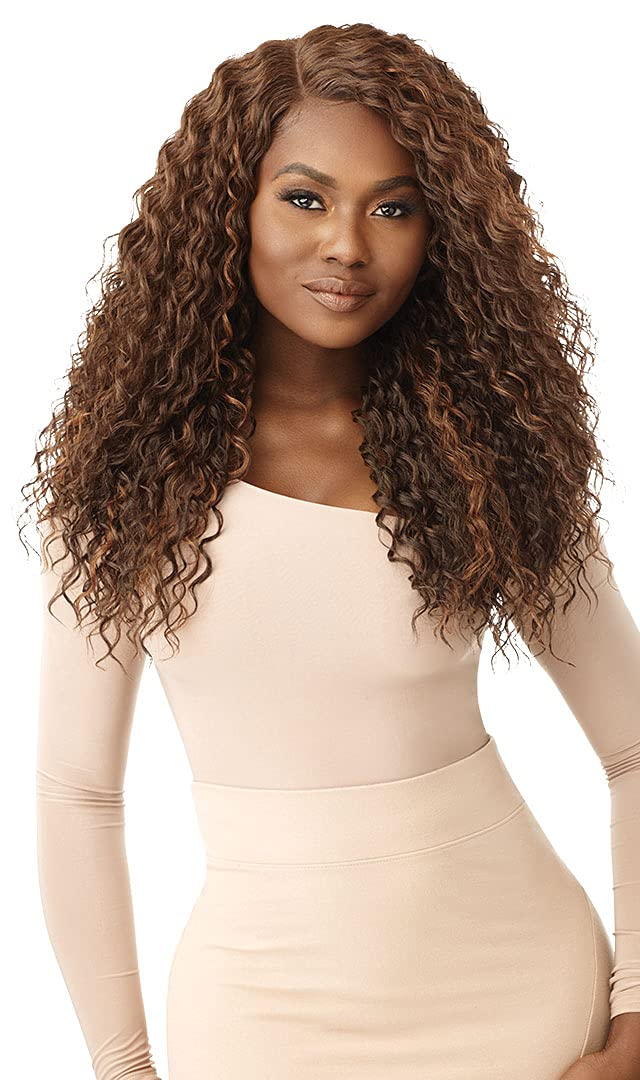 Outre Lace Front shipfree Ultra-Cheap Deals Wig Deep Parting Pre 5