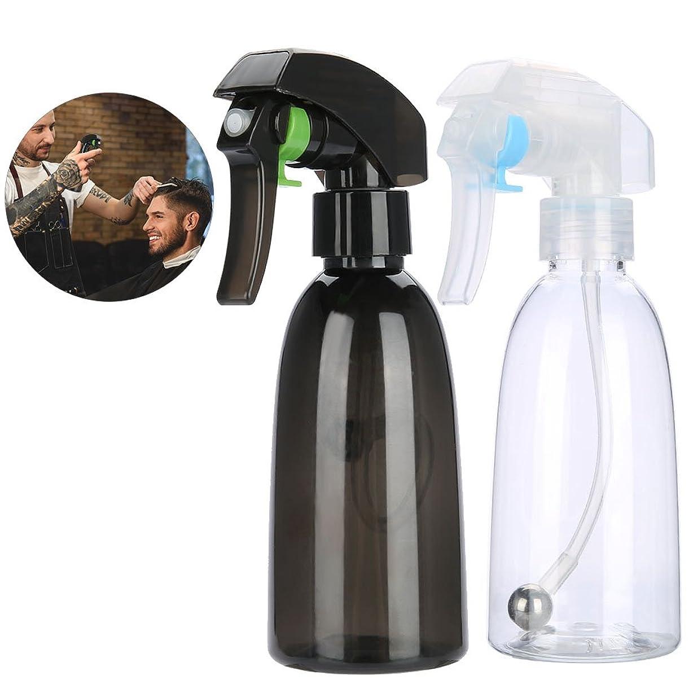 場所故障写真のヘアスプレーボトル、詰め替え可能なプラスチック 美容スプレーボトル 化粧水スプレー  水スプレー サロンバーバーツール 家庭用 2本(1)