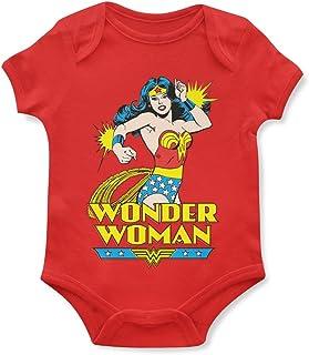 1/4 Mile Kult Offiziell Strampler Babybodys Retro Wonder Woman Mädchen Strampelanzug