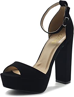 Women's Shoes Simple Platform Ankle Strap Chunky High Heeled Sandals