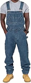 X-xyA Denim Bib Overalls for Men Dungarees Work Jeans Jumpsuits with Multiple Pockets,XL