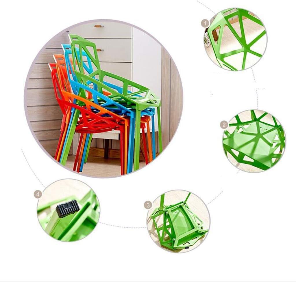 XUEYAN DLDL Géométrique Chaise Creuse Creative Maison Moderne Minimaliste en Plastique Tabouret Chaise (Couleur : Blanc) Red