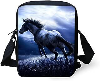 Animal Horse Pattern Women Cross Body Shoulder Bag for School Travel