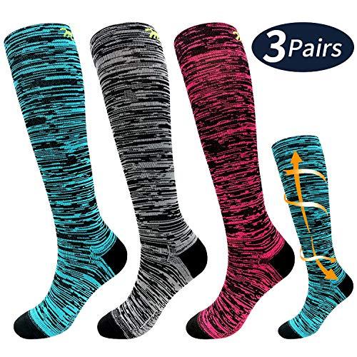 shoe size 8-10 Marathon Pro Compression socks Women/'s size S//M Lilac Love