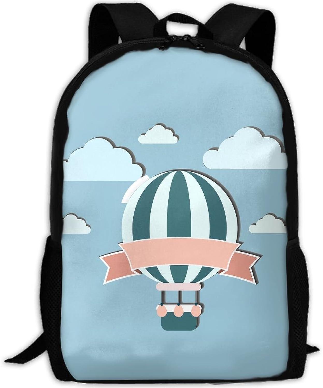 Backpack Laptop Travel Hiking School Bags Fire Ballon Daypack Shoulder Bag