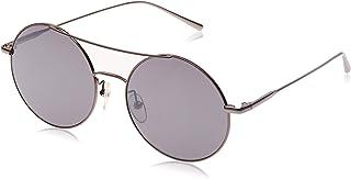 كالفن كلاين نظارات شمسية للجنسين ، لون العدسة رمادي ، CK2156S