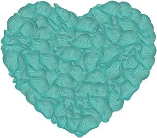 Neo LOONS 1000 Pcs Artificial Silk Rose Petals Decoration Wedding Party Color Tiffany Blue