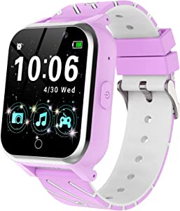Kids Smart Watch for Boys Girls - Smart Watch for Kids Dual Camera 17 Game HD Touch Screen Kids Watch with Video Music Player Clock Calculator, Learning Educational Kids Gifts Toys for 4-12 (Purple)