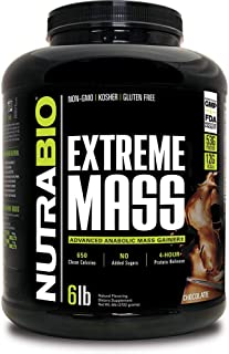 NutraBio Extreme Mass 6 lbs (Chocolate) – High Calorie Mass Gainer Supplement