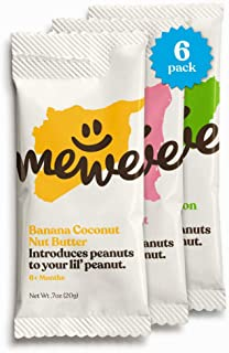 Early Peanut Introduction by MeWe Baby | Nut Butter Squeeze Packs, 6 Count | Baby Food and Baby Snacks | Reduce Peanut Allergy Risk | Non-GMO | Variety Pack