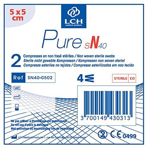 LCH SN40-0502 Compresse Non Tissé Stérile 5 x 5 cm 40 g