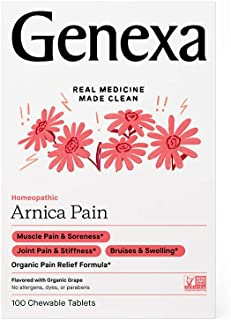Genexa Arnica Pain - 100 Tablets | Certified Organic & Non-GMO, Physician Formulated, Homeopathic | Pain Relief Medicine