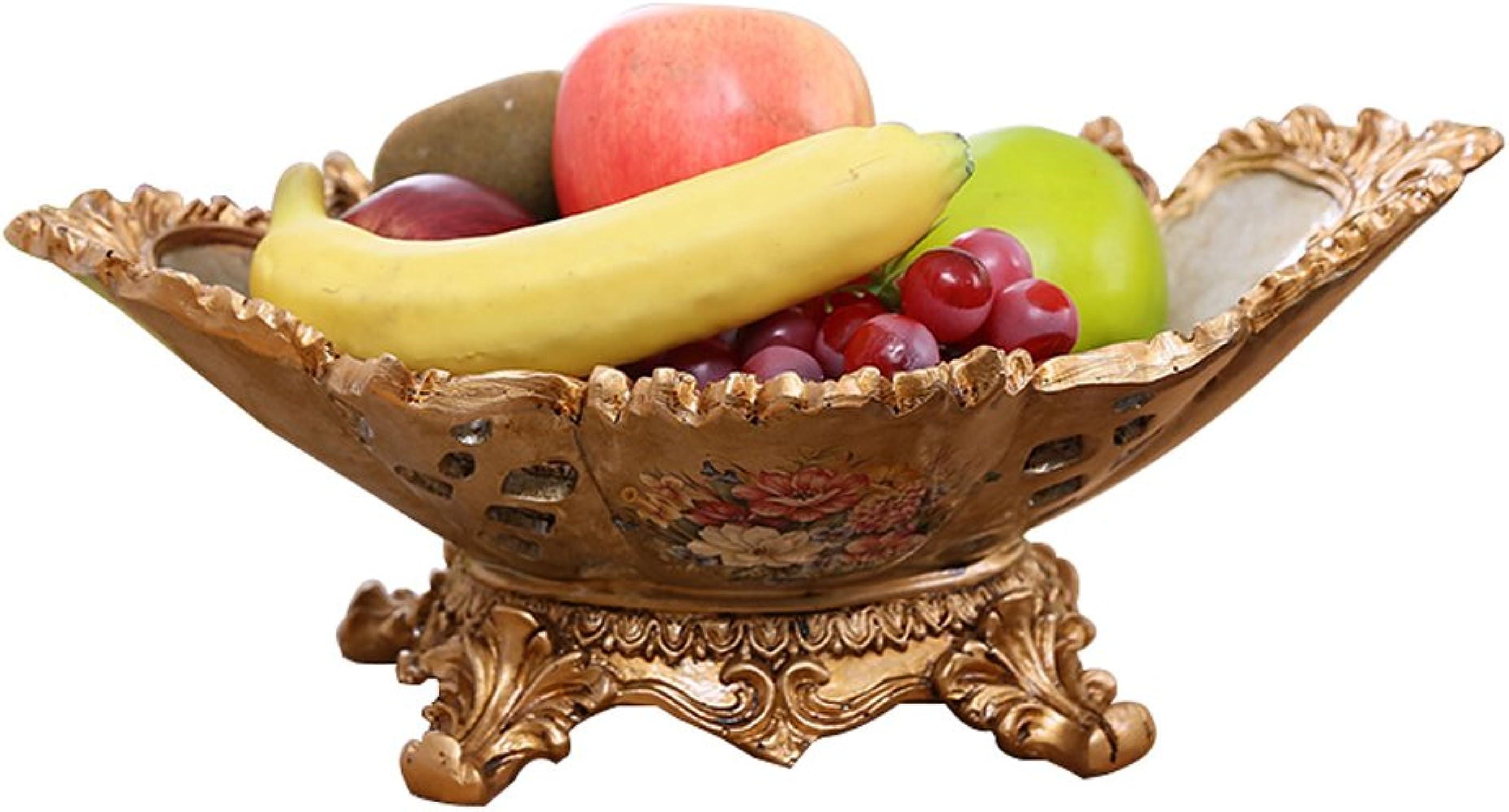 Continental classique creux résine assiette de fruits Si le seau panier de fruits pratique haute capacité platerie table de thé Décoration bonbonnière Salon Décoration