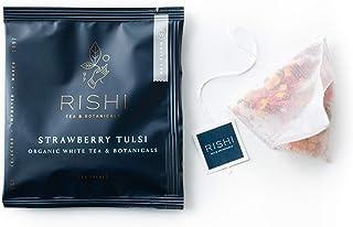 Rishi Tea Strawberry Tulsi Herbal Tea | Immune & Stress Support, USDA Certified Organic, Fair Trade White Tea, Holy Basil,...