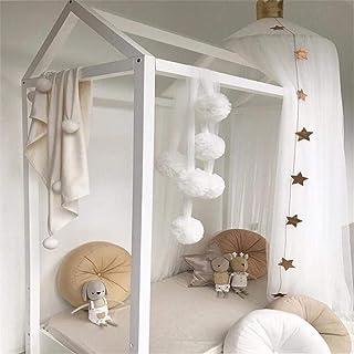 heresell - Mosquitera Redonda para Cama de Princesa, decoración de habitación para bebés y niños, Color Rosa