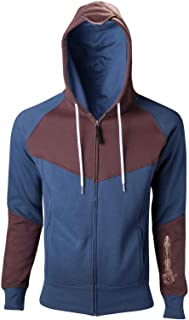 Mens Hoodie Blue Brown Unity Official Zipped