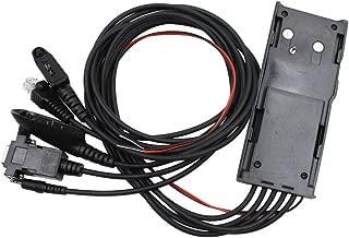 Rukey 5 in 1 Programming Cable for Handheld Mobile Radio Motorola GP300 CP150 GP68 P080 GP240 GP540 PRO5550