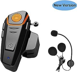 Thokwok Motorcycle Bluetooth Headset,BT-S2 1000m Helmet Bluetooth Communication Systems Ski Helmet Headphones Bluetooth Intercom Walkie-Talkie for Snowmobile,Up to 3 Riders(Pack 1)