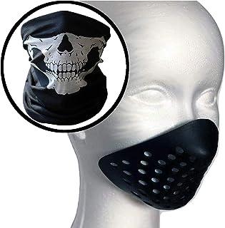 【ec-drive】シェルマスク スカルヘッド バンダナ セット フェイスマスク サバゲー ガイコツ 骸骨