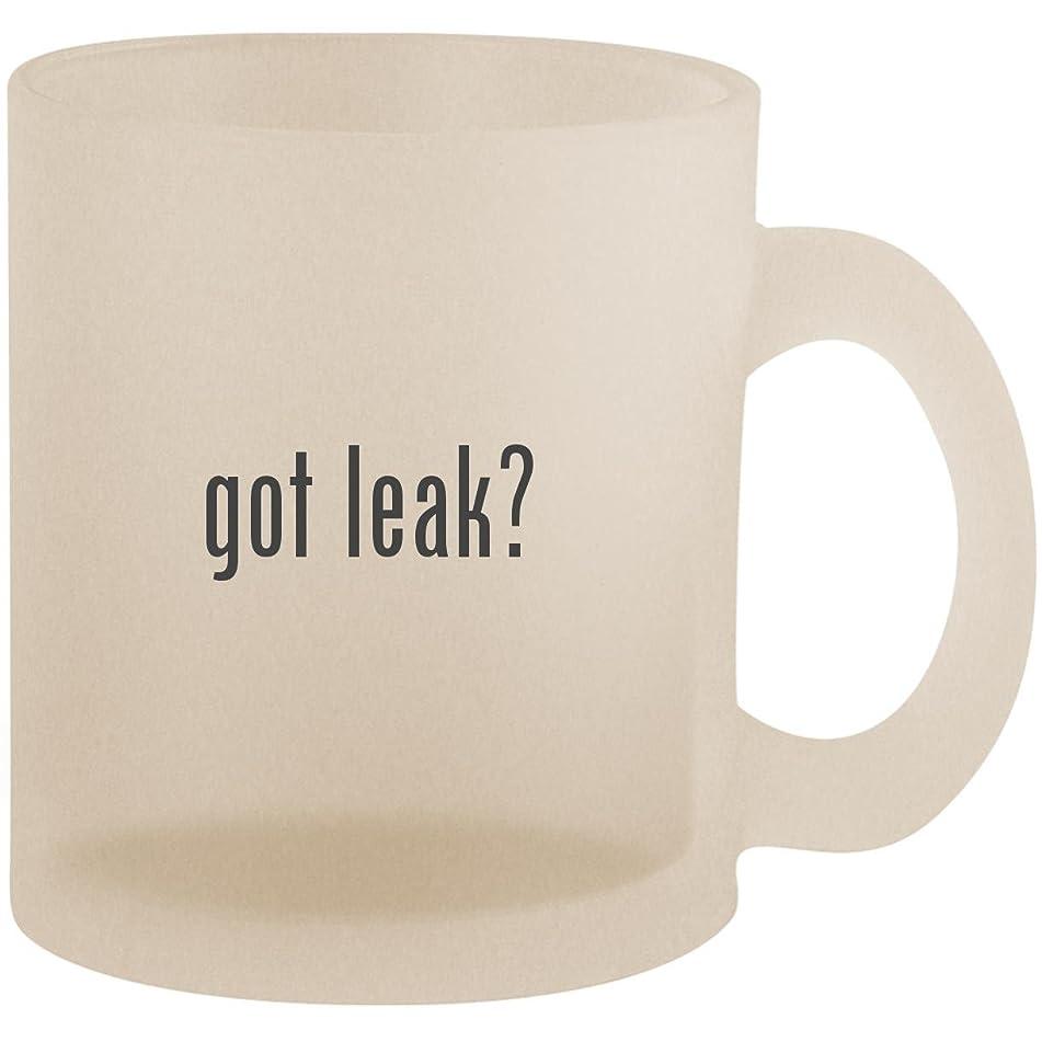 got leak? - Frosted 10oz Glass Coffee Cup Mug