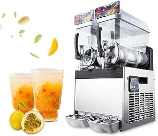 Dyna-Living Slush Machine Commercial 2 Bowls 30L/7.9Gal Slushy Margarita Machine Beverage Iced Fruit Juice Dispenser Frozen Drink Maker Ice Slushies for Supermarkets Cafes Restaurants Snack Bars