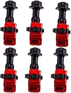 6 PCS Ignition Coil Pack for Nissan Skyline R33 S2 Stagea RB25DET R34 RB26 RB26DET