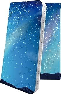 MADOSMA Q601 ケース 手帳型 オーロラ 天の川 星 星柄 星空 宇宙 夜空 星型 マドスマ 手帳型ケース ハワイアン ハワイ 夏 海 madosmaq601 風景