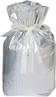 Gift Mate 21174-2 2-Piece Drawstring Gift Bags, Jumbo, Diamond Silver