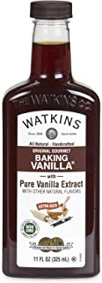 Watkins Original Gourmet Baking Vanilla Extract, with Pure Vanilla Extract, 11 Fl Oz (Pack of 1) (Packaging may vary)