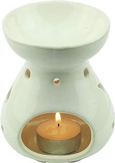 Tom Barrington Aromatherapy Oil Warmer, Essential Oils, Porcelain Decoration, Teardrop Shape, Celestial Design, Eggshell W...