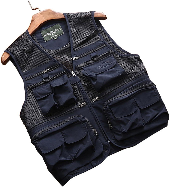 Gilet Waistcoat Vest Men's Outdoor Thin Vest Photography Thin Vest Jacket MultiPocket Fishing Vest
