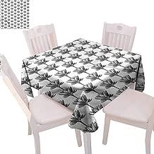 Zara Henry Lotus Tablecloths Monochrome China Flora Home Outdoor Rectangular Tablecloth W36 xL36