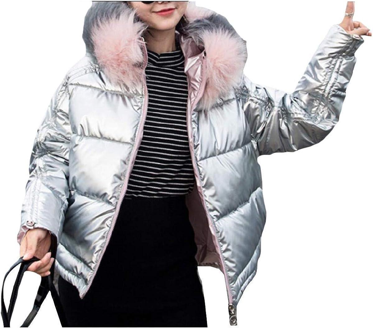 Women Winter Coat Casual Puffer Coat Zip up Quilted Jacket
