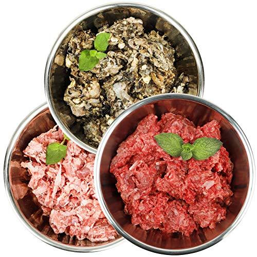 Barf-Snack Frostfutter - Sparpaket Leckermäulchen mit Ente, Kaninchen & Pansen 28kg Barf Futter, Rohfleisch für Hunde & Katzen
