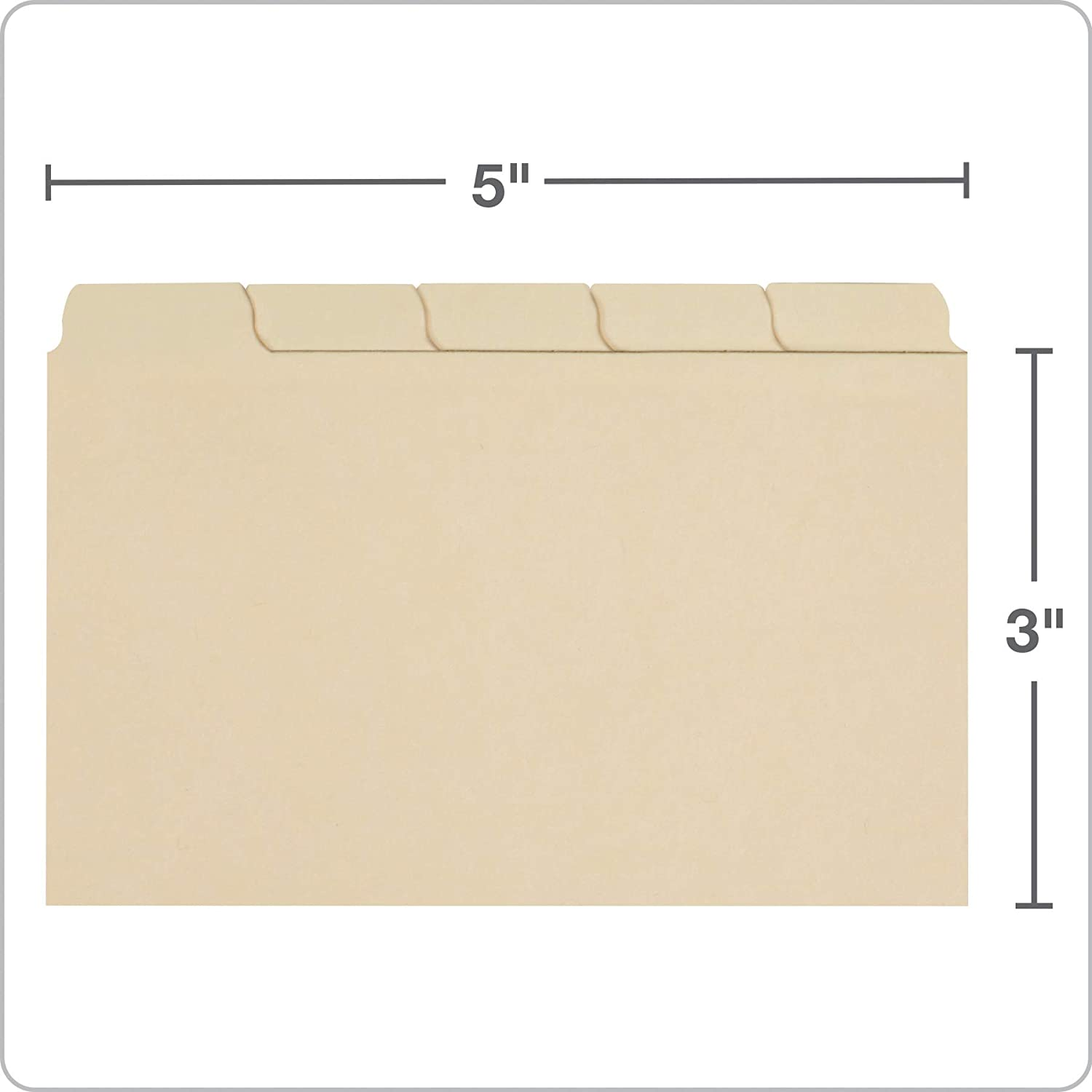 Oxford Index Card Guides with Blank Tabs, 2225 x 225 Inches, 225/225 Cut Tabs,  Manila, 22500 per Box (4022252252) For 3 X 5 Index Card Template