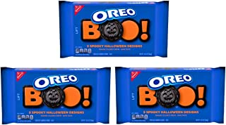 Oreo Cookies Halloween Family Size - Pack of 3 Bags - Orange Creme Filling, Limited Edition, 20 oz Per Bag