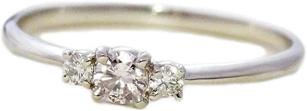リング レディース PT900 ピンク ダイヤモンド プラチナ シンプル 指輪 (6)