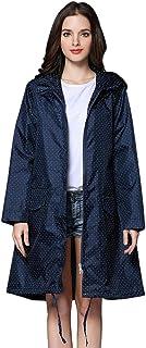 THOMAS HOME Women Rain Jacket,Packable Rain Jacket Women Rain Coat Hood Waterproof Plus Size Beige