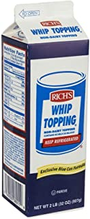 Rich Products Corporation Ready-to-Whip Non Dairy Topping, 32 Ounce -- 12 per case.